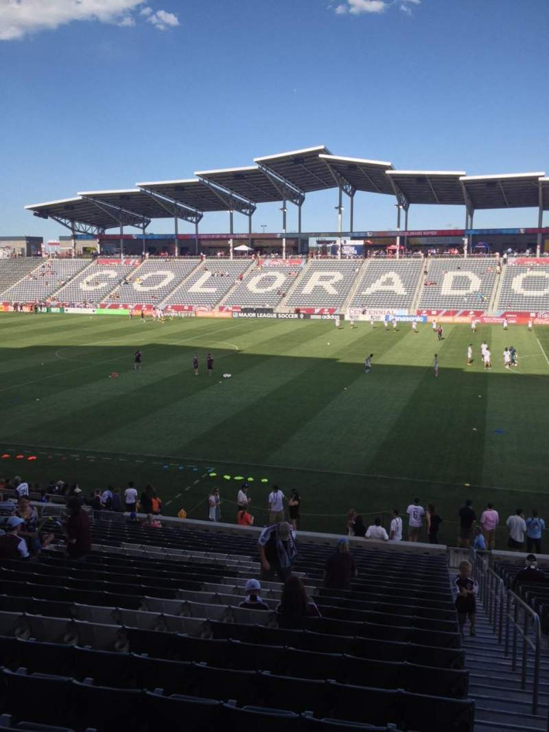Seating view for Dick's Sporting Goods Park Section 126 Row 24 Seat 1