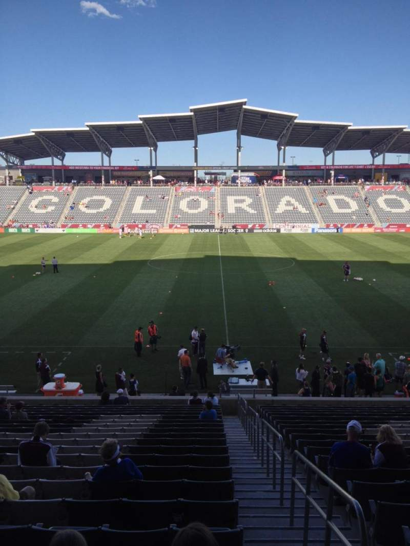 Seating view for Dick's Sporting Goods Park Section 129 Row 24 Seat 1