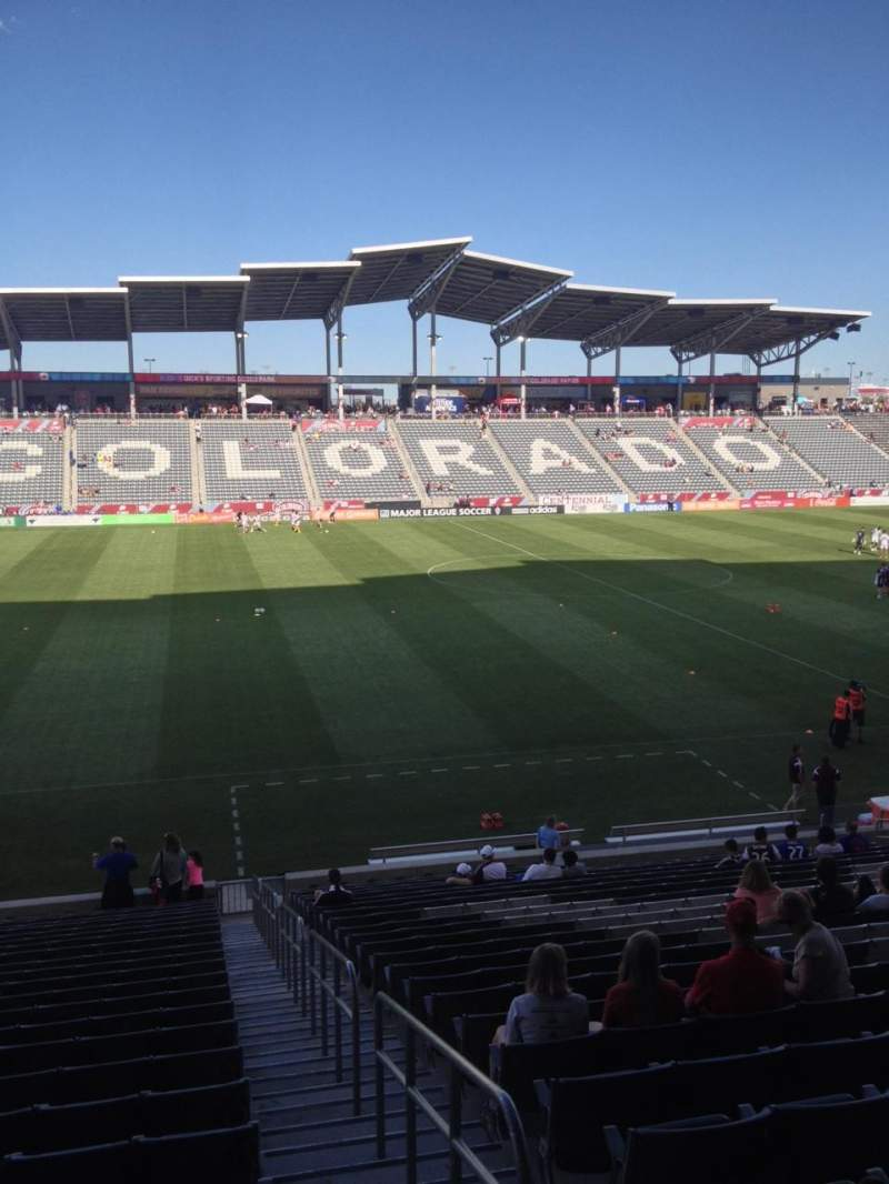 Seating view for Dick's Sporting Goods Park Section 131 Row 24 Seat 1