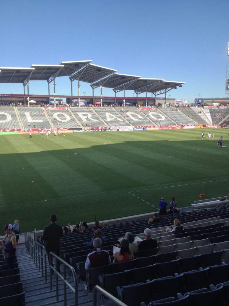 Seating view for Dick's Sporting Goods Park Section 132 Row 21 Seat 1