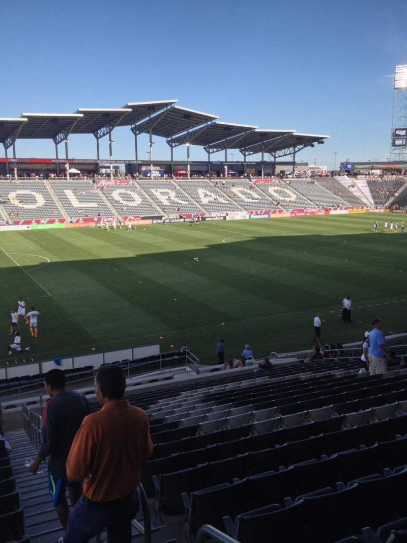Seating view for Dick's Sporting Goods Park Section 133 Row 24 Seat 1