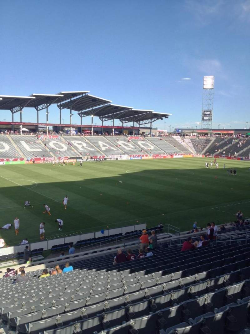 Seating view for Dick's Sporting Goods Park Section 134 Row 26 Seat 1