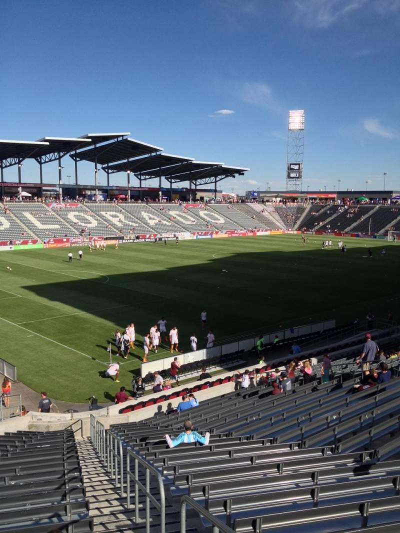 Seating view for Dick's Sporting Goods Park Section 135 Row 26 Seat 1