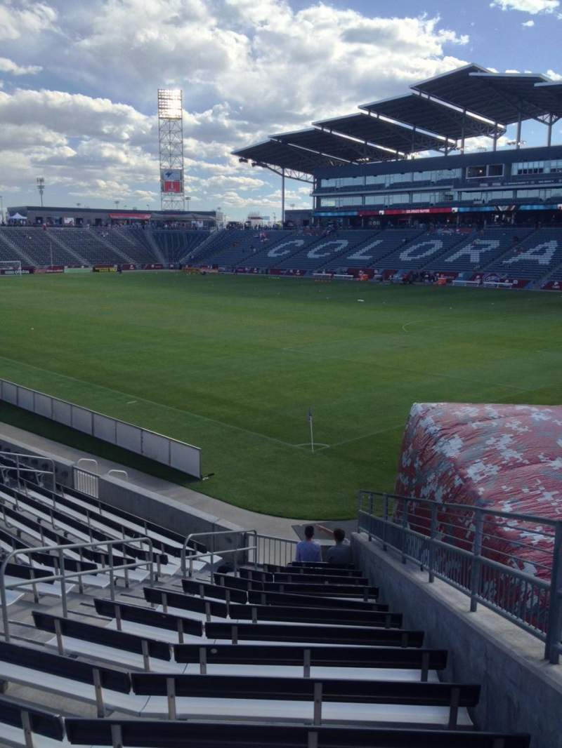 Seating view for Dick's Sporting Goods Park Section 100 Row 15 Seat 1