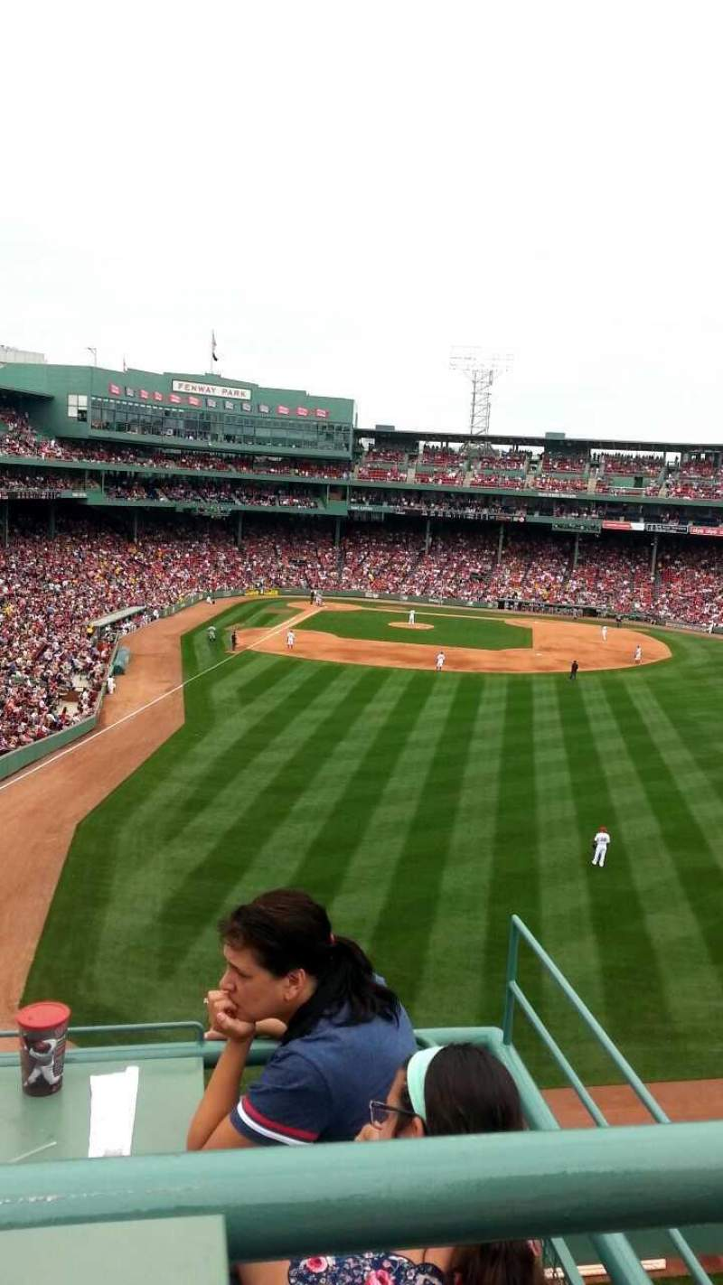 Seating view for Fenway Park Section Bud Light Roof Deck Row 2 Seat 1