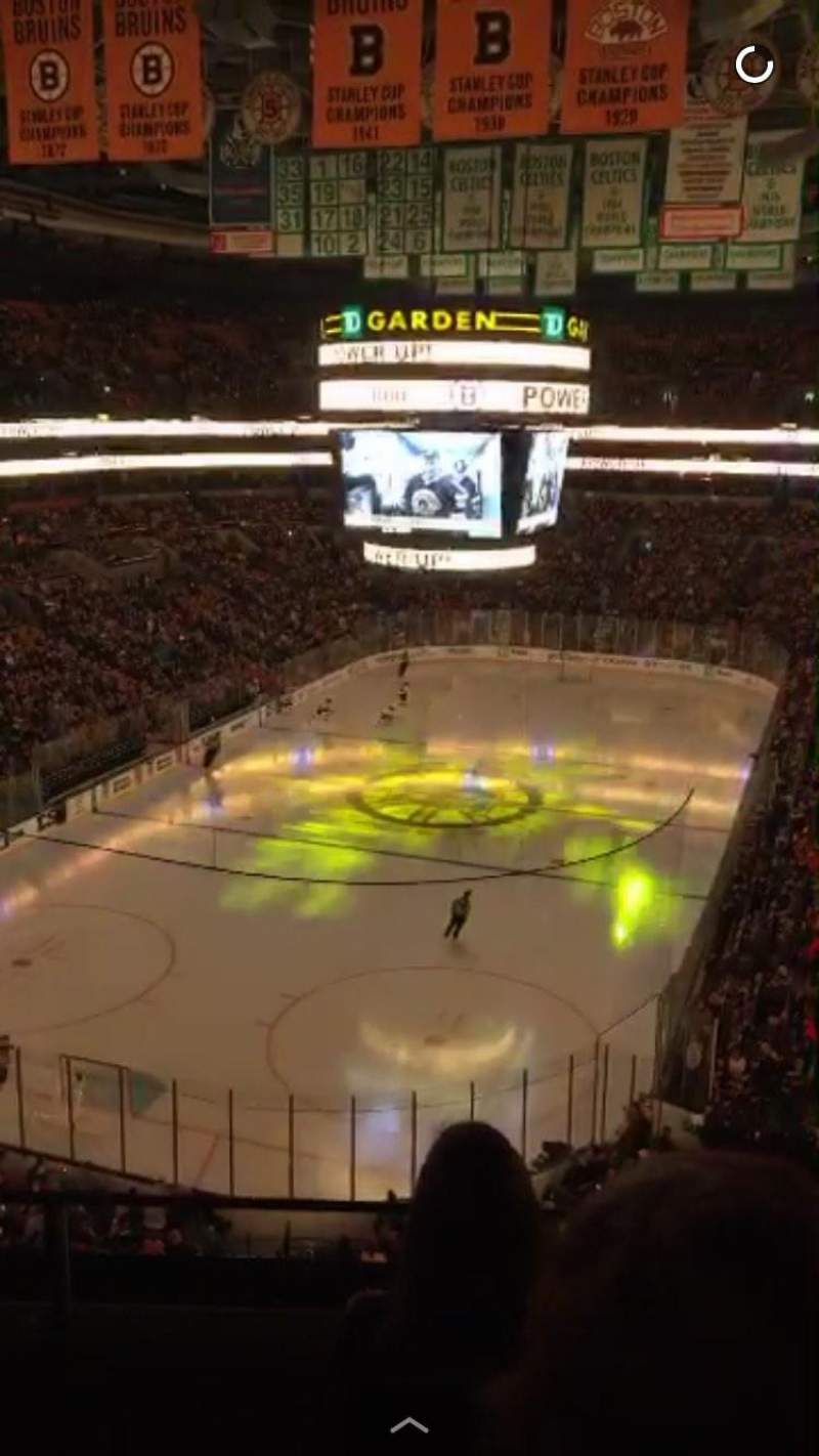 Seating view for TD Garden Section BAL 322 Row 2 Seat 3