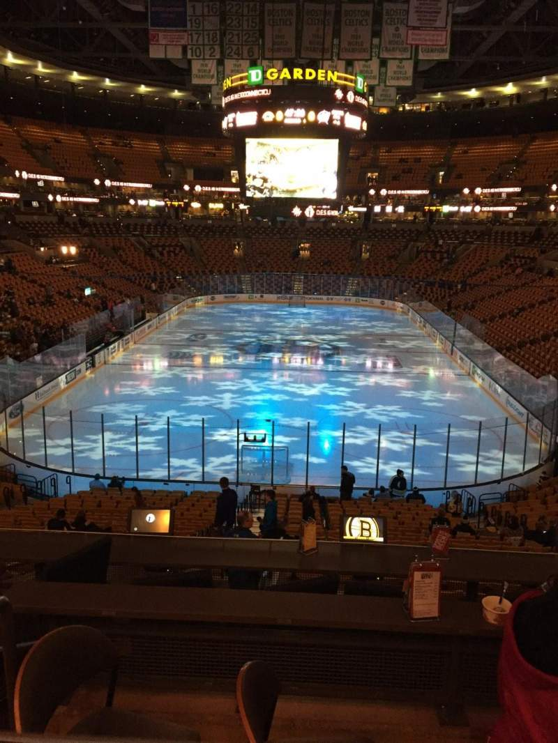 Seating view for TD Garden Section At&t Sports Deck Row C