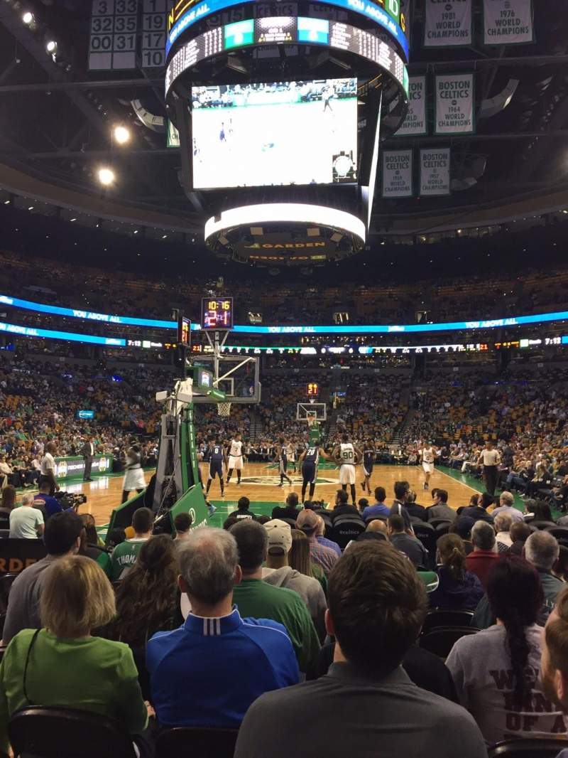 Seating view for TD Garden Section Loge 17 Row K Seat 3