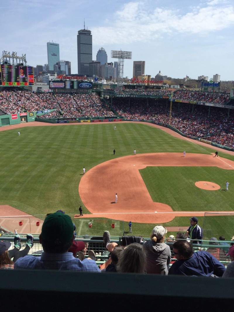 Seating view for Fenway Park Section Pavilion box 10 Row E Seat 5
