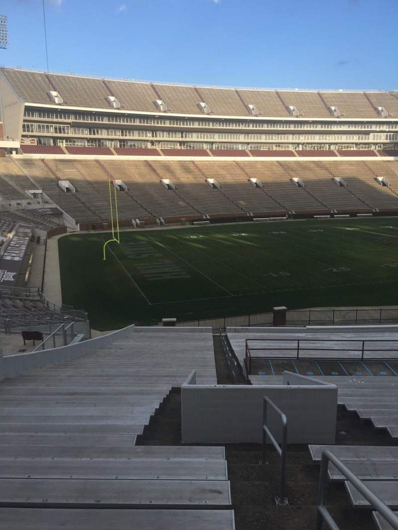 Seating view for Davis Wade Stadium Section 07 Row 45 Seat 1