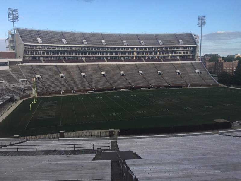 Seating view for Davis Wade Stadium Section 06 Row 58 Seat 1