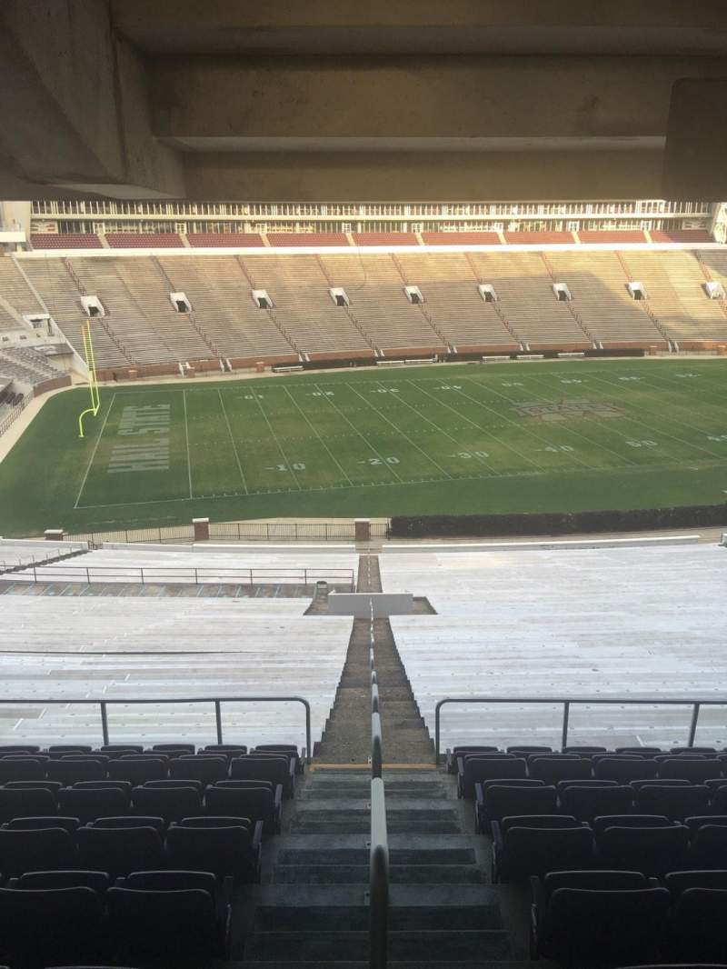 Seating view for Davis Wade Stadium Section 111 Row 67 Seat 01