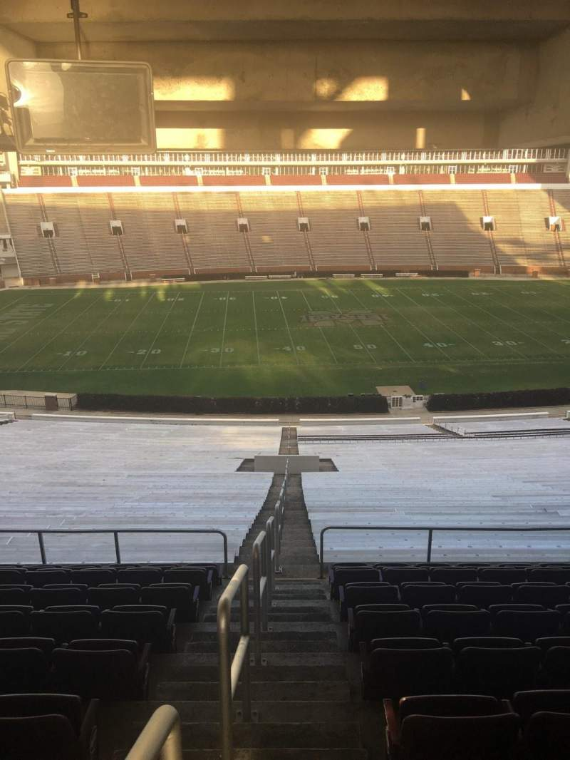 Seating view for Davis Wade Stadium Section 108 Row 68 Seat 01