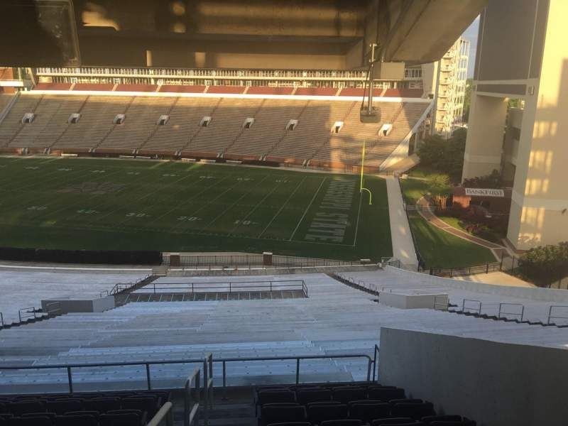 Seating view for Davis Wade Stadium Section 102 Row 68 Seat 01