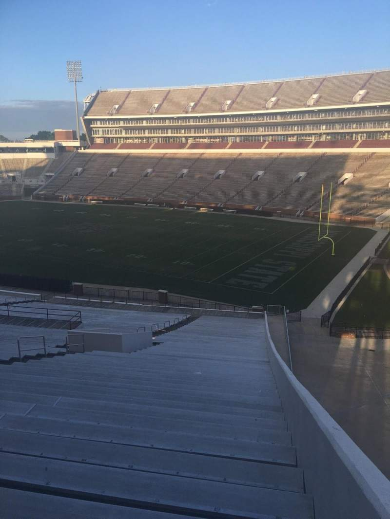 Seating view for Davis Wade Stadium Section 101 Row 59 Seat 1