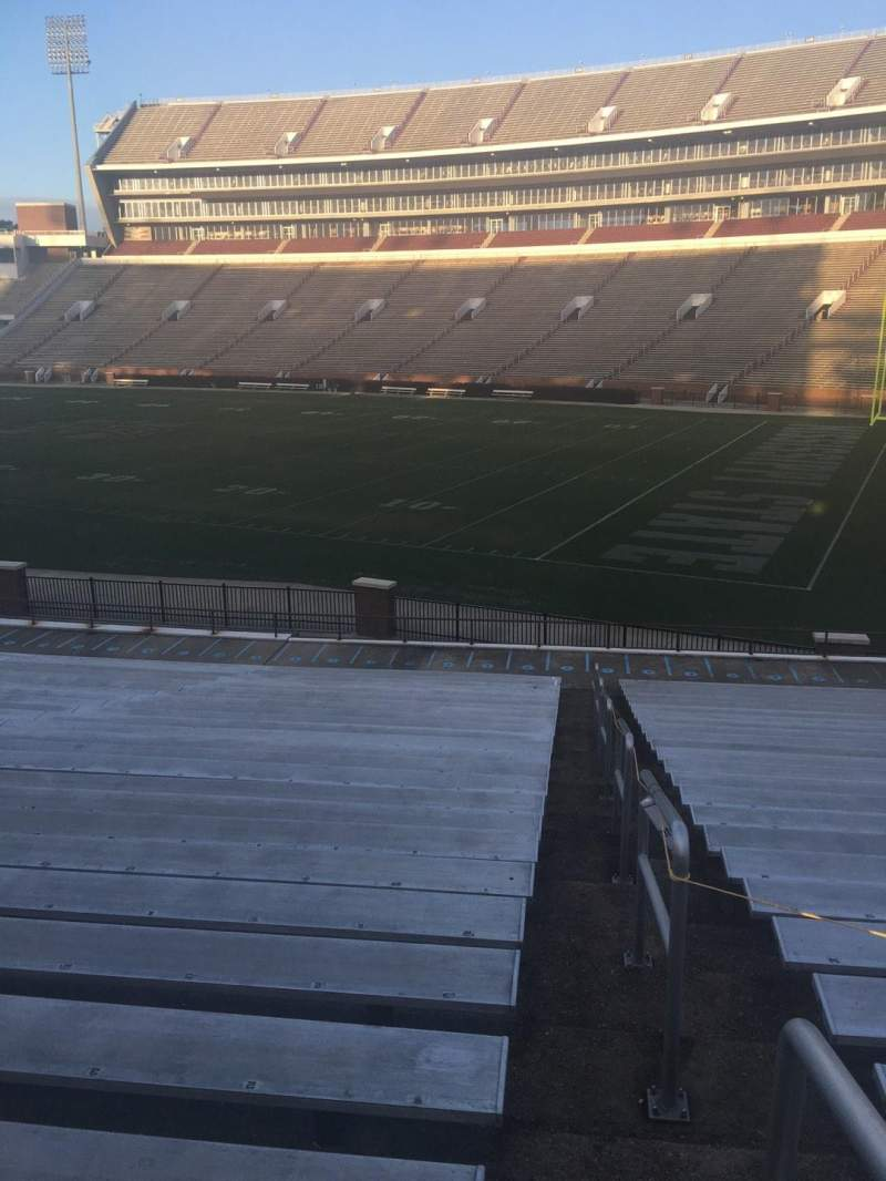 Seating view for Davis Wade Stadium Section 101 Row 28 Seat 1