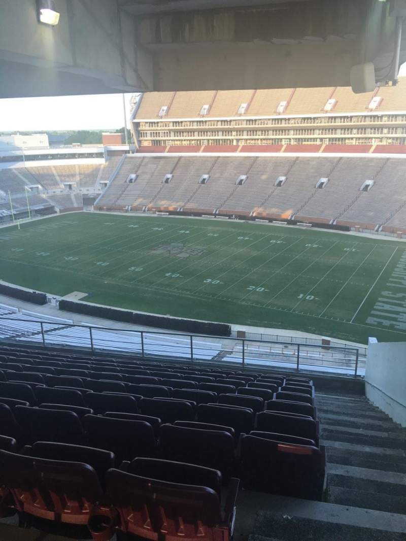 Seating view for Davis Wade Stadium Section 201 Row 10 Seat 02