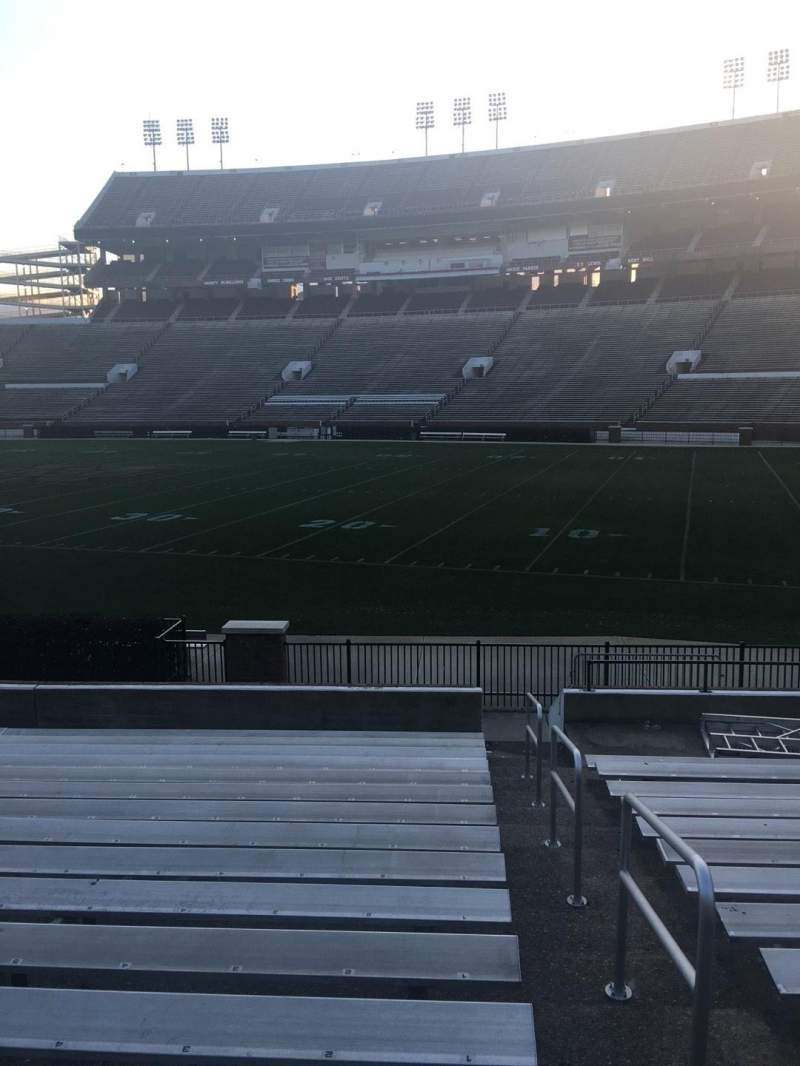 Seating view for Davis Wade Stadium Section 18 Row 17 Seat 01