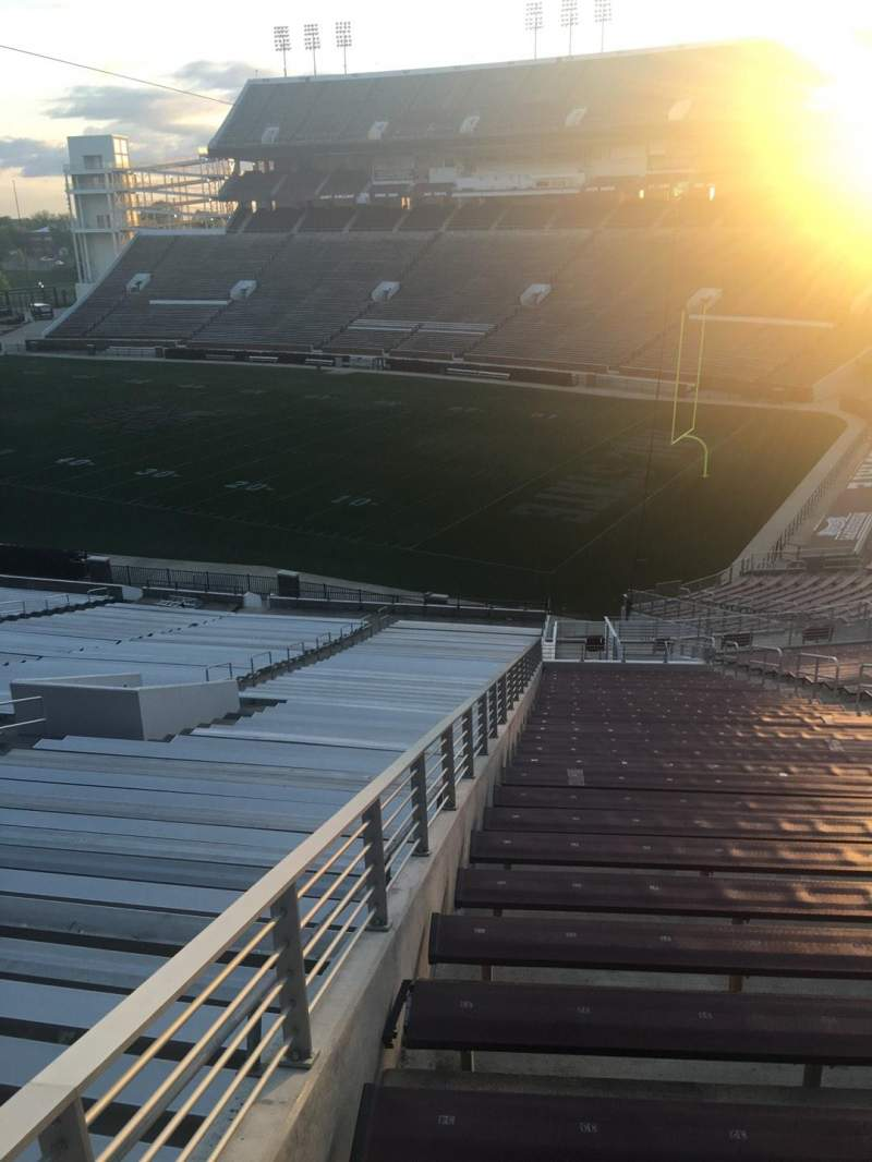 Seating view for Davis Wade Stadium Section 22 Row 20 Seat 01