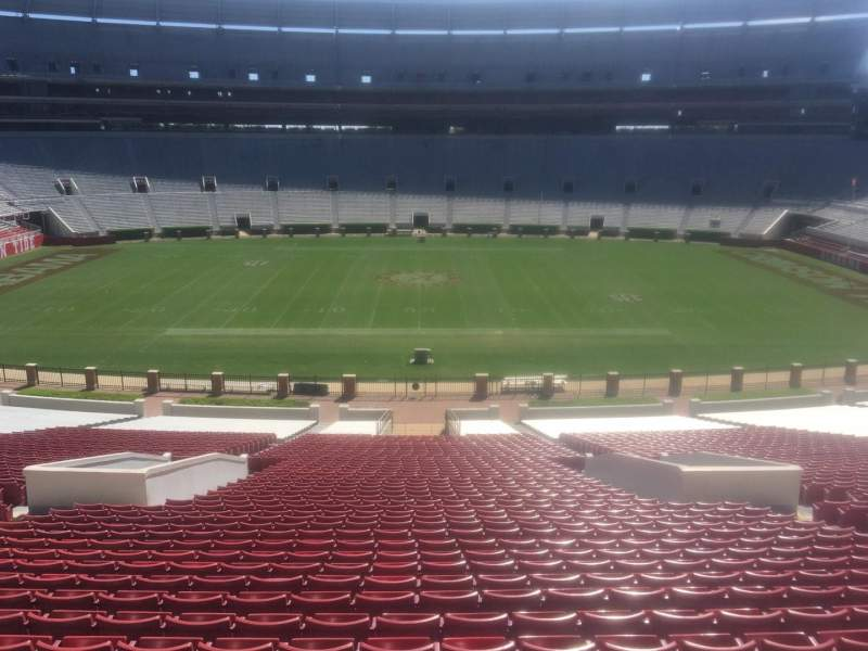 Bryant-Denny Stadium, section: G, row: 58, seat: 01