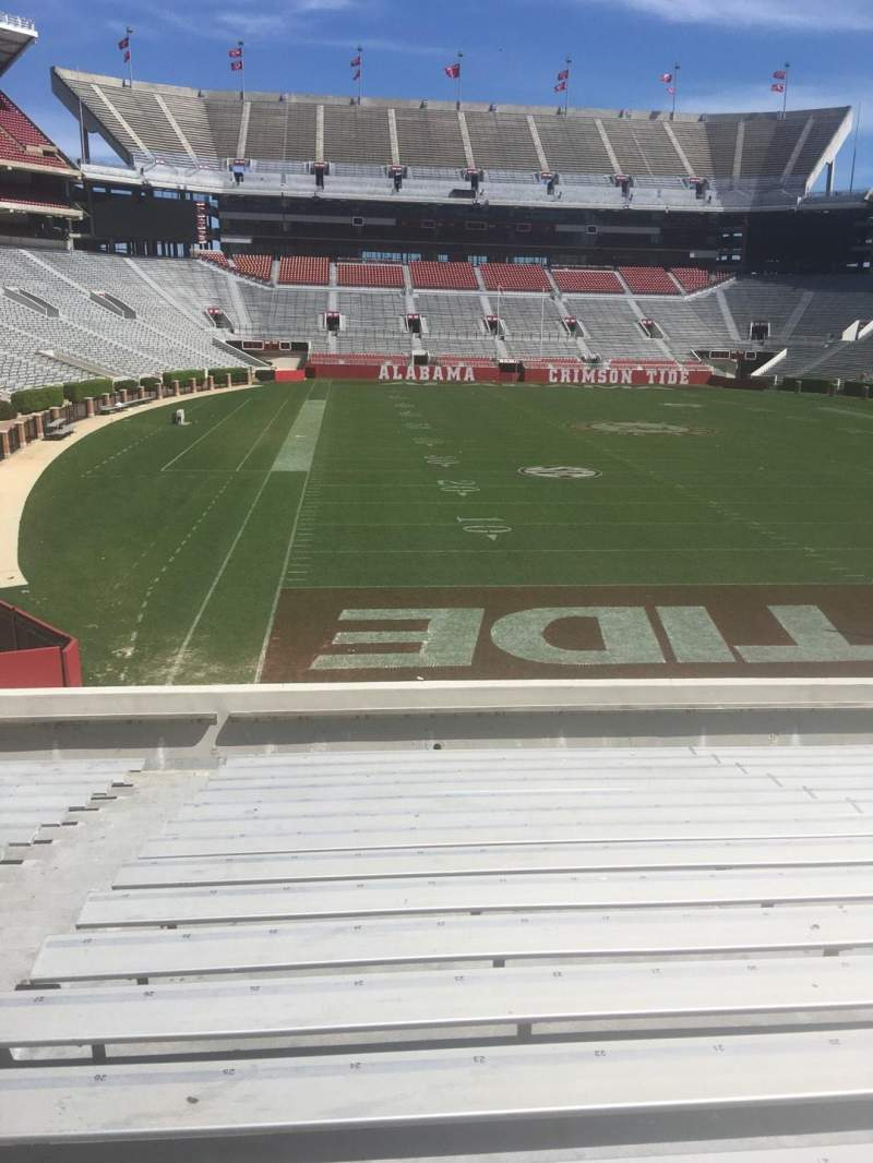 Seating view for Bryant-Denny Stadium Section S-6 Row 20 Seat 20