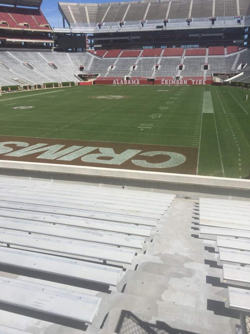 Seating view for Bryant-Denny Stadium Section S-2 Row 24 Seat 01