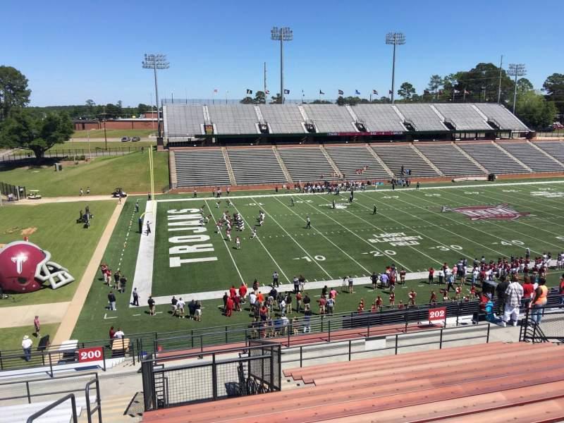 Veterans Memorial Stadium, section: 200, row: 20, seat: 23