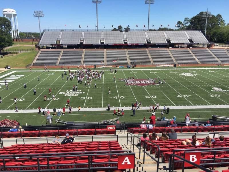 Veterans Memorial Stadium, section: 208, row: A3, seat: 1