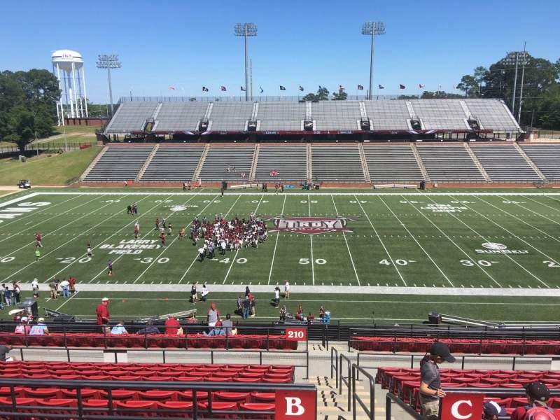 Veterans Memorial Stadium, section: 210, row: B3, seat: 1