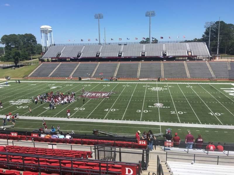 Veterans Memorial Stadium, section: 214, row: D3, seat: 4