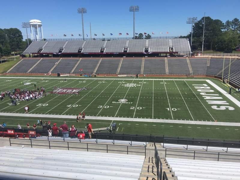 Veterans Memorial Stadium, section: 216, row: 20, seat: 1