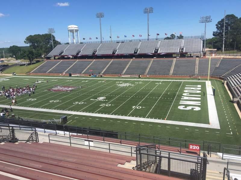 Veterans Memorial Stadium, section: 220, row: 20, seat: 1