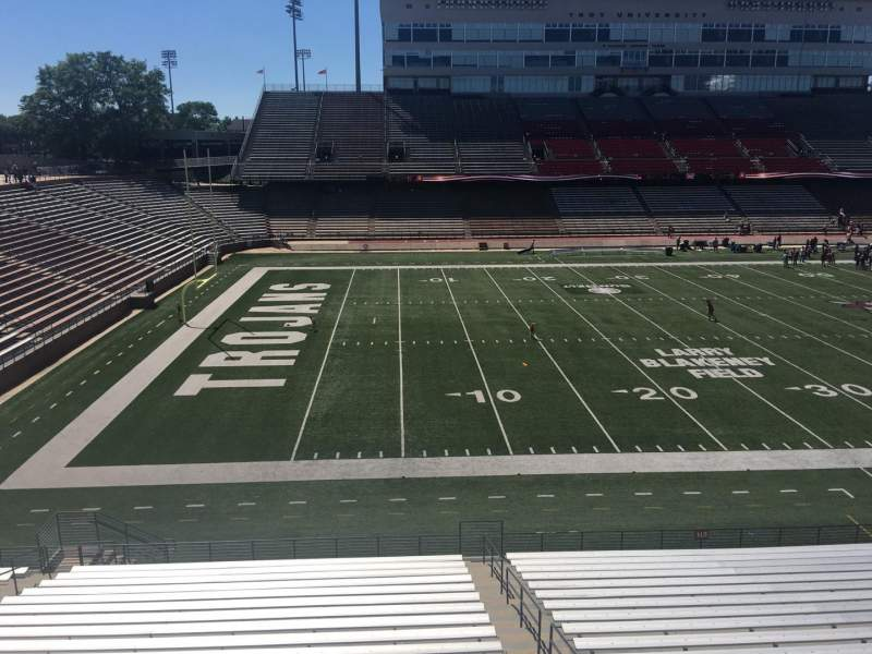 Seating view for Veterans Memorial Stadium Section 213 Row 1 Seat 25