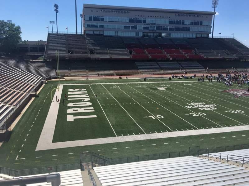 Veterans Memorial Stadium, section: 215, row: 1, seat: 21