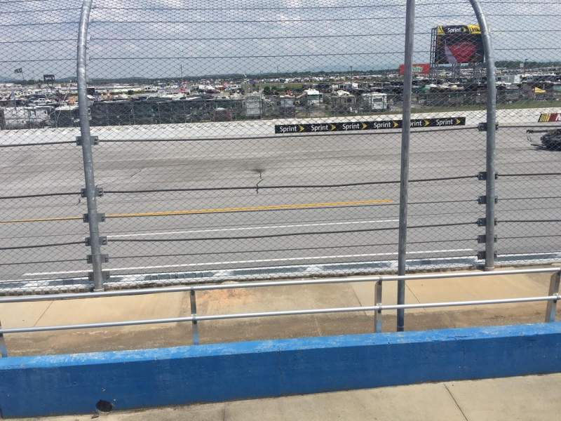 Seating view for Talladega Superspeedway Section F Row 8 Seat 8
