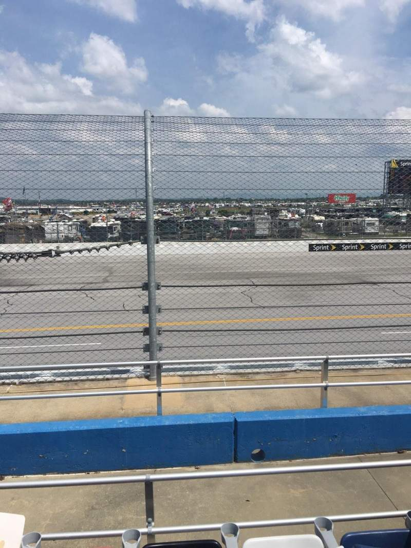 Seating view for Talladega Superspeedway Section G Row 8 Seat 8