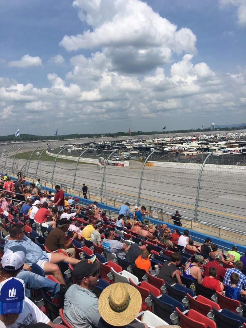 Seating view for Talladega Superspeedway Section L Row 25 Seat 1