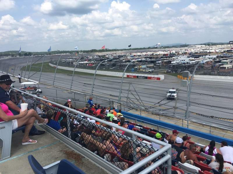 Seating view for Talladega Superspeedway Section N Row 25 Seat 1