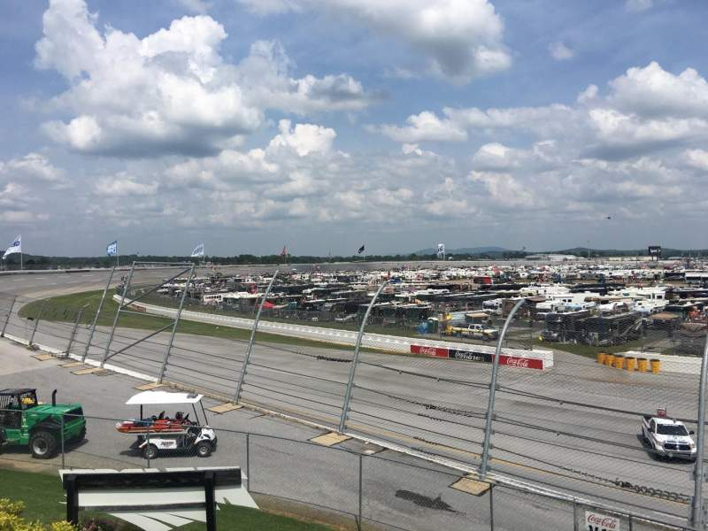 Seating view for Talladega Superspeedway Section O Row 25 Seat 8