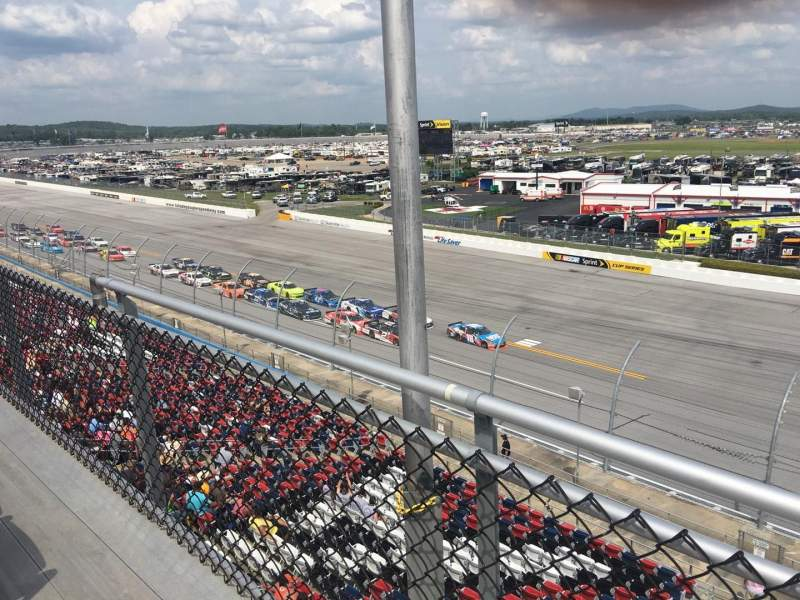 Seating view for Talladega Superspeedway Section Anniston tower Row H