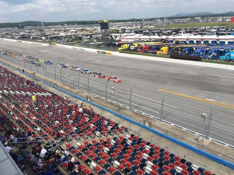 Seating view for Talladega Superspeedway Section Anniston tower D