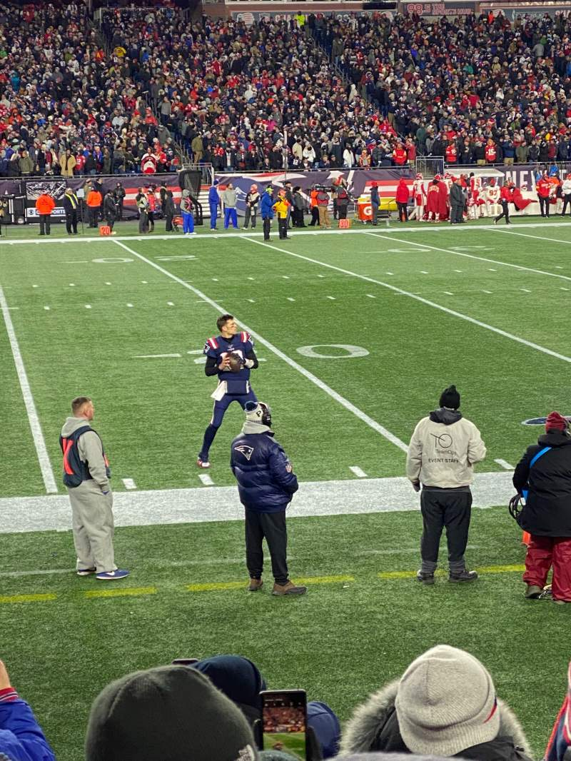 Seating view for Gillette Stadium Section 112 Row 7 Seat 19
