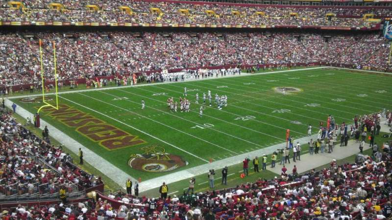 Seating view for FedEx Field