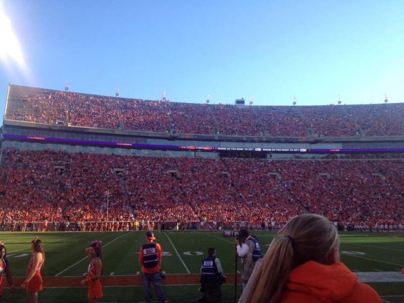 Seating view for Memorial Stadium, Clemson Section M Row B Seat 14