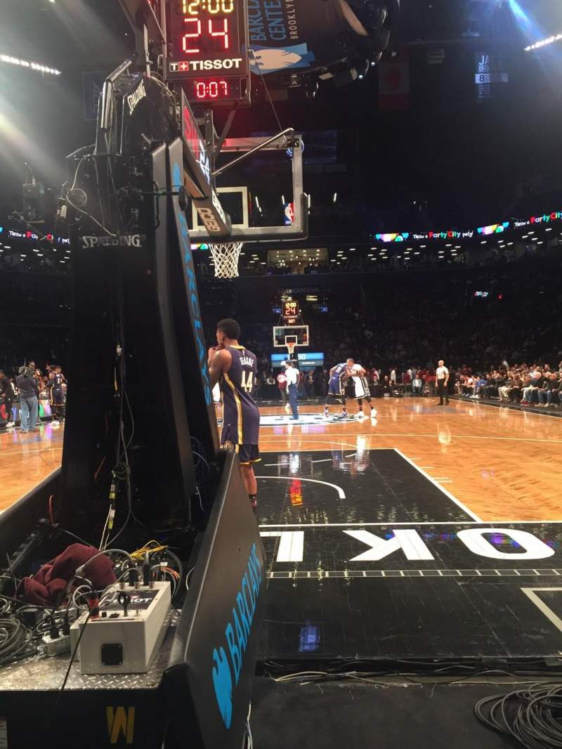 Seating view for Barclays Center Section 31 Row A Seat 14