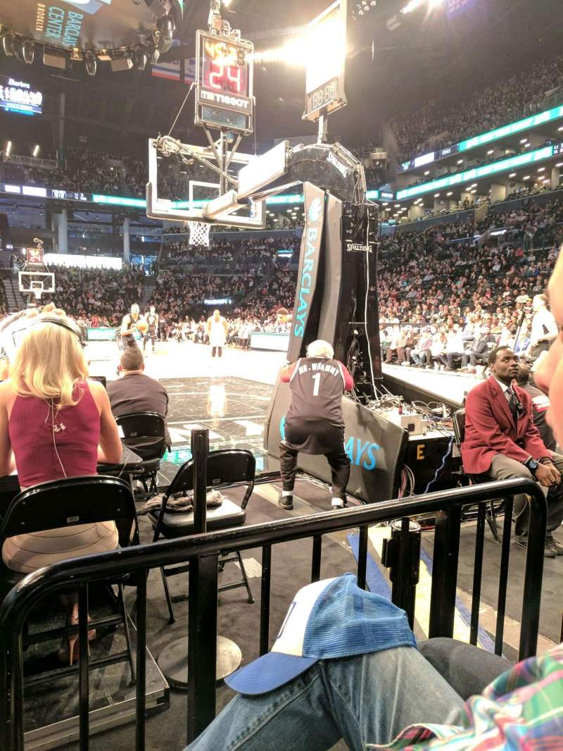 Seating view for Barclays Center Section 16 Row D Seat 7