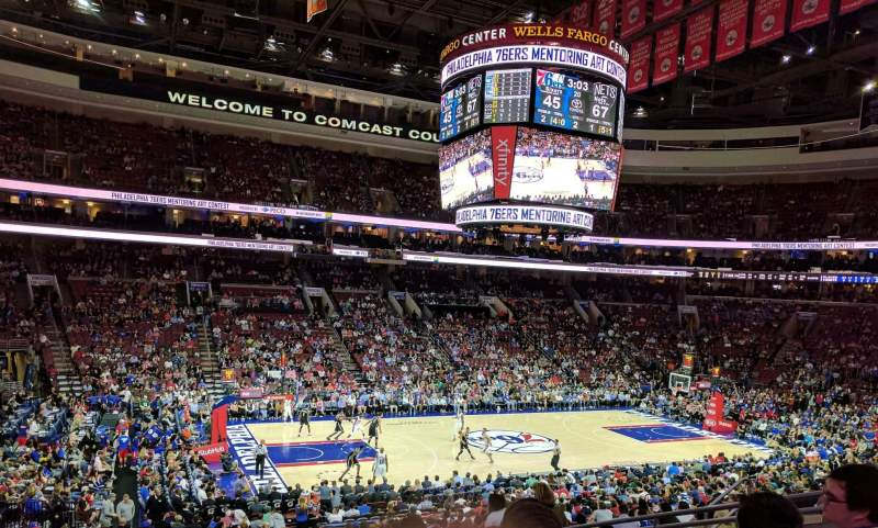 Seating view for Wells Fargo Center Section CB23 Row 2 Seat 12