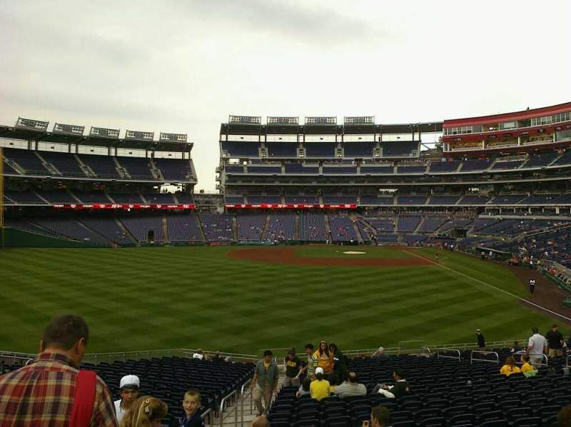Seating view for Nationals Park Section 104 Row X Seat 20