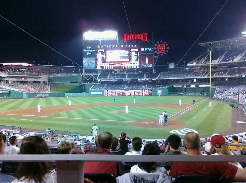 Seating view for Nationals Park Section 120 Row K Seat 3