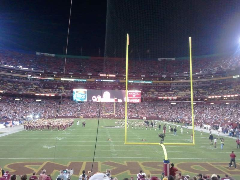 Seating view for FedEx Field Section 111 Row 16 Seat 22